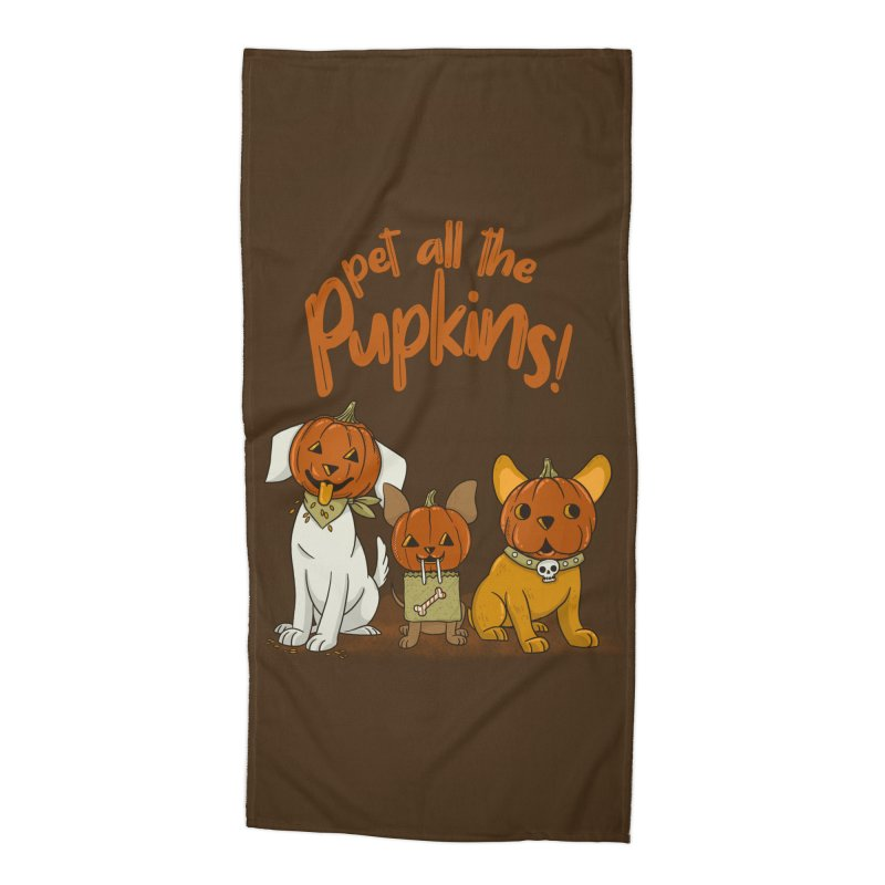 Pupkins! Accessories Beach Towel by Made With Awesome