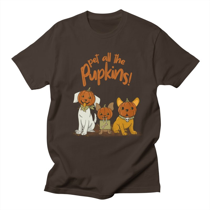 Pupkins! in Men's Regular T-Shirt Chocolate by Made With Awesome