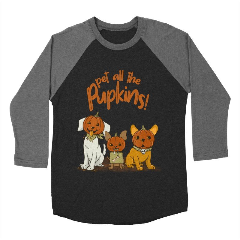 Pupkins! Men's Baseball Triblend Longsleeve T-Shirt by Made With Awesome
