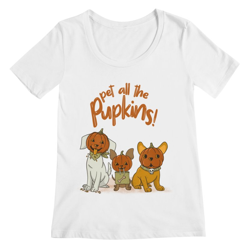 Pupkins! Women's Regular Scoop Neck by Made With Awesome