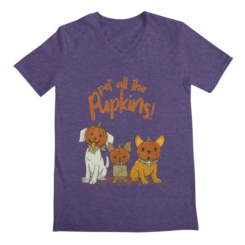 Pupkins! Men's Regular V-Neck by Made With Awesome