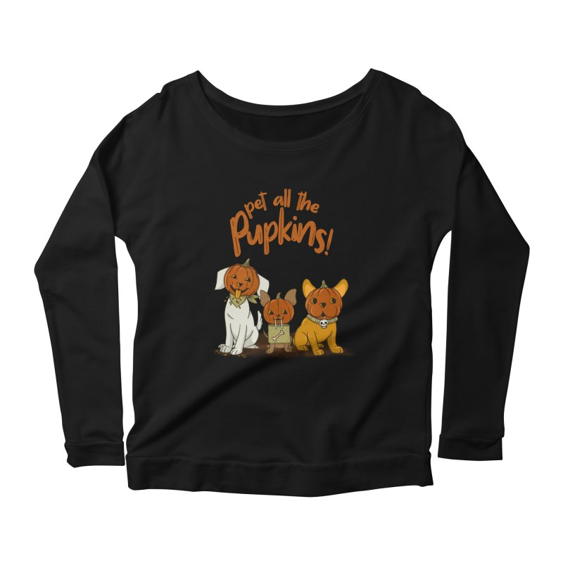 Pupkins! Women's Scoop Neck Longsleeve T-Shirt by Made With Awesome