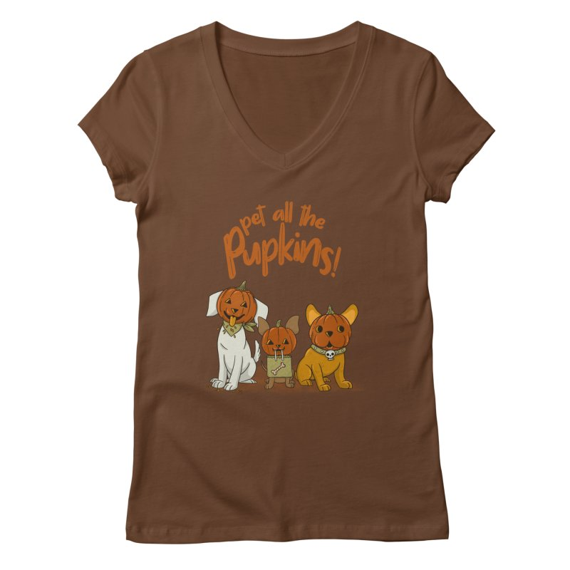 Pupkins! Women's Regular V-Neck by Made With Awesome
