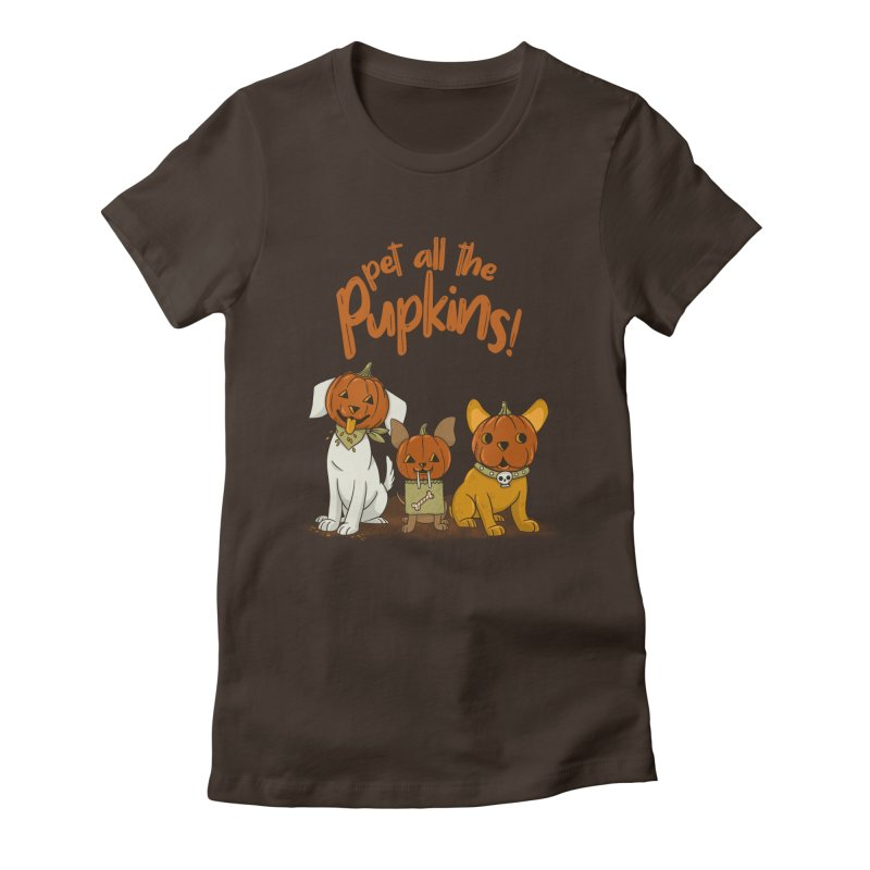 Pupkins! Women's Fitted T-Shirt by Made With Awesome
