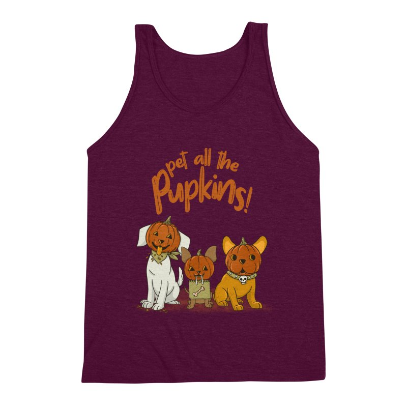 Pupkins! Men's Triblend Tank by Made With Awesome