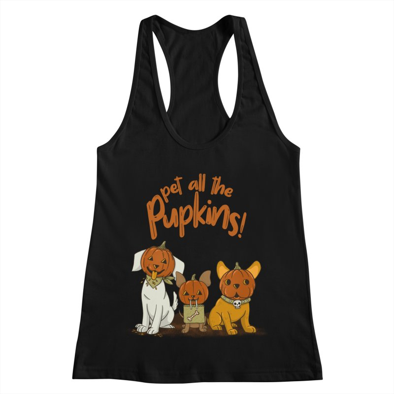 Pupkins! Women's Racerback Tank by Made With Awesome
