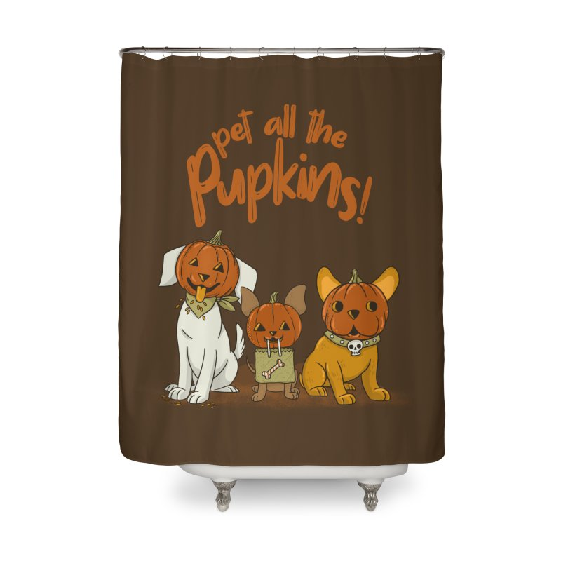 Pupkins! Home Shower Curtain by Made With Awesome