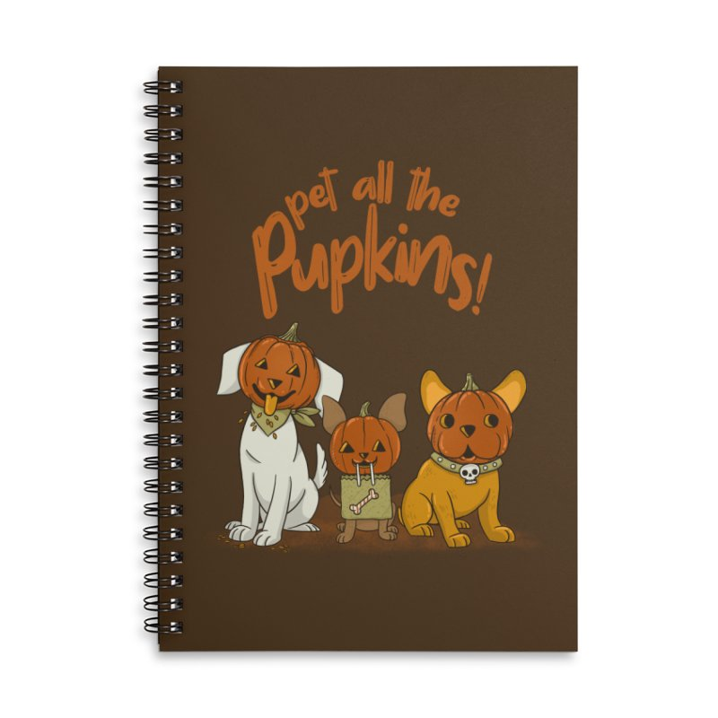 Pupkins! Accessories Lined Spiral Notebook by Made With Awesome
