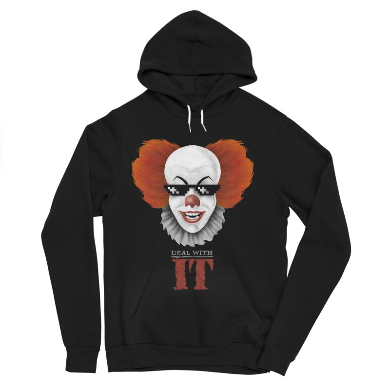 Deal With IT Men's Sponge Fleece Pullover Hoody by Made With Awesome