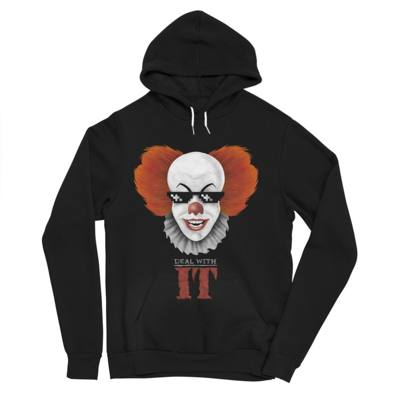 Deal With IT Women's Sponge Fleece Pullover Hoody by Made With Awesome
