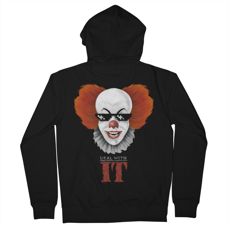 Deal With IT Men's French Terry Zip-Up Hoody by Made With Awesome