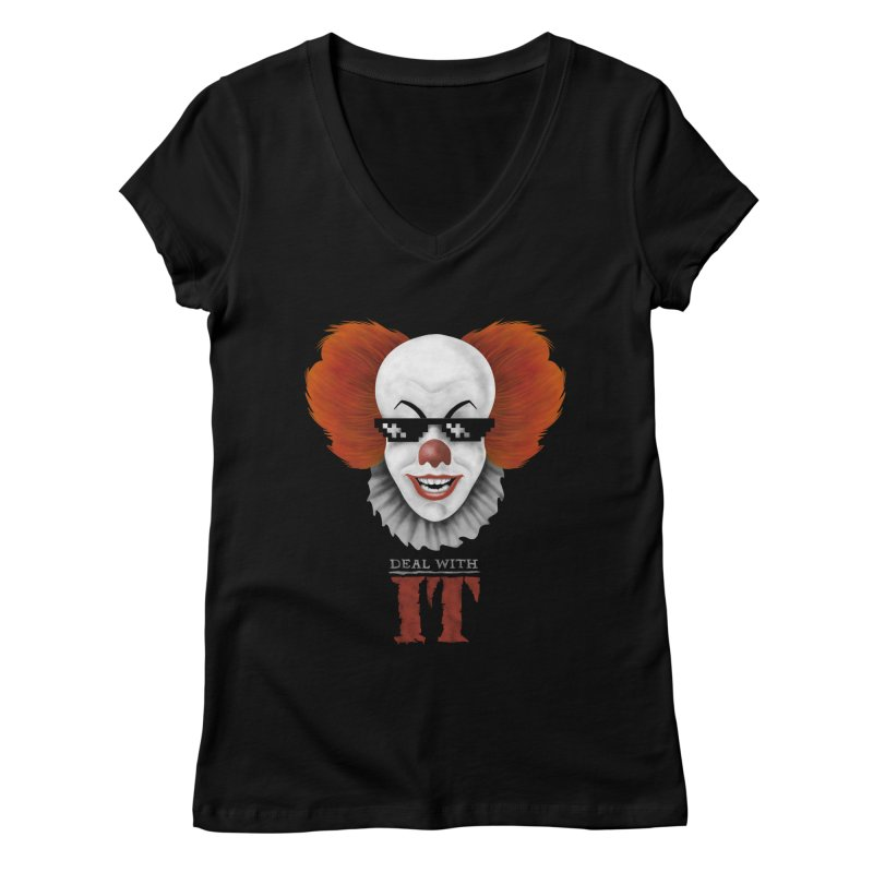 Deal With IT Women's Regular V-Neck by Made With Awesome