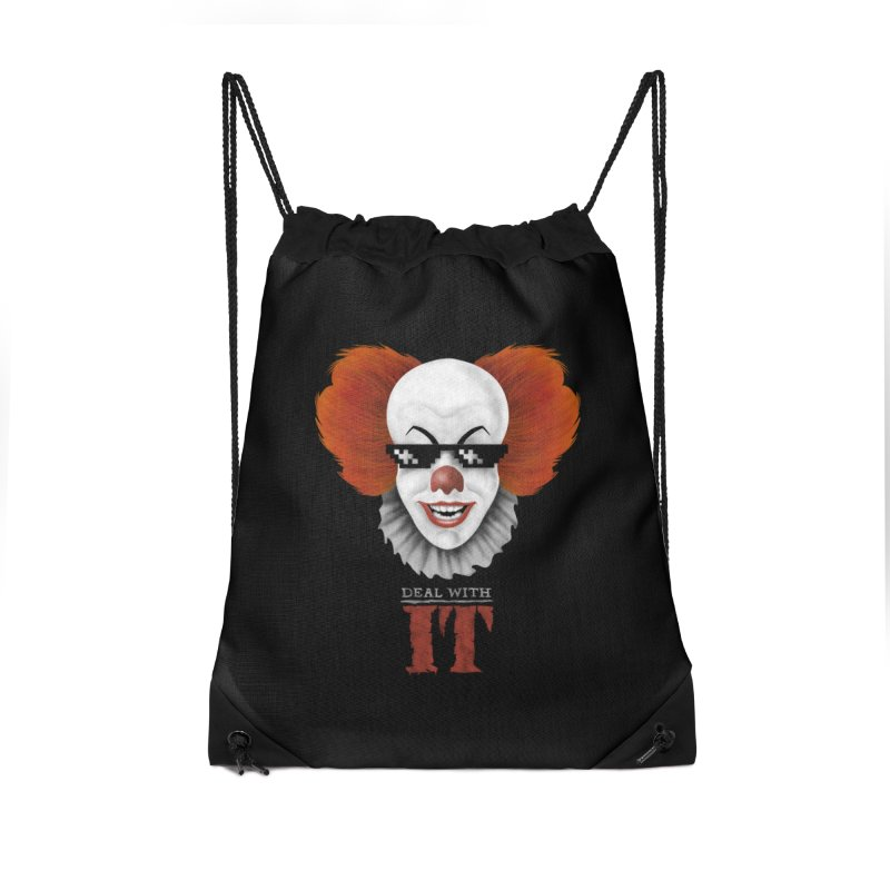 Deal With IT Accessories Drawstring Bag Bag by Made With Awesome