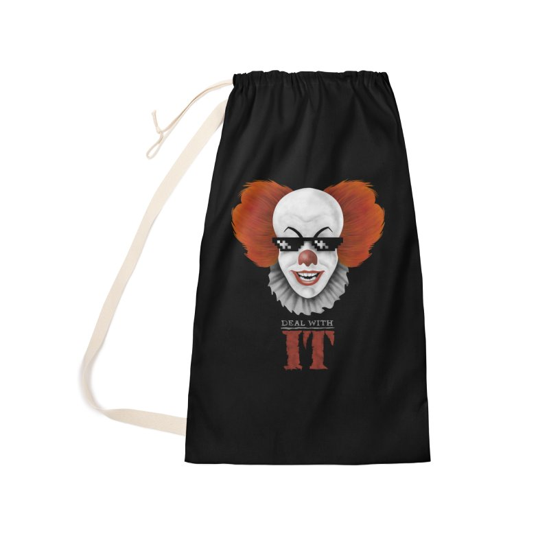 Deal With IT Accessories Laundry Bag Bag by Made With Awesome