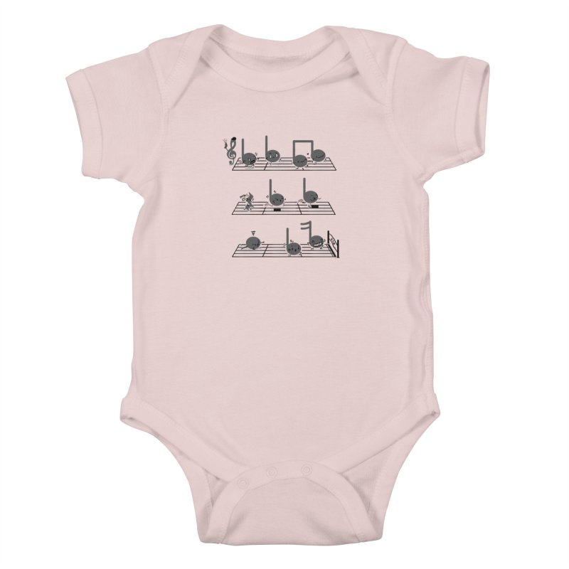 Sound Track Kids Baby Bodysuit by Made With Awesome