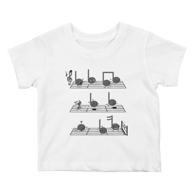 Sound Track Kids Baby T-Shirt by Made With Awesome