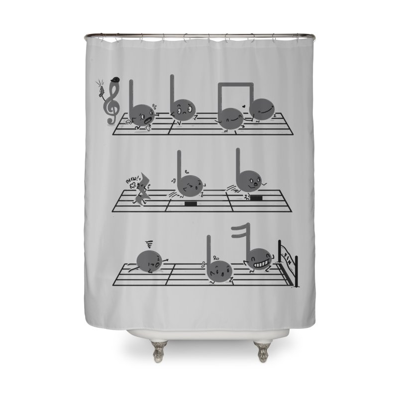 Sound Track Home Shower Curtain by Made With Awesome