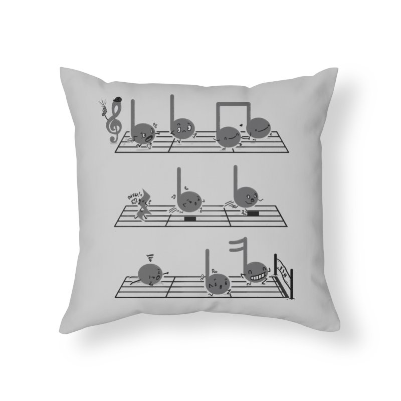Sound Track Home Throw Pillow by Made With Awesome