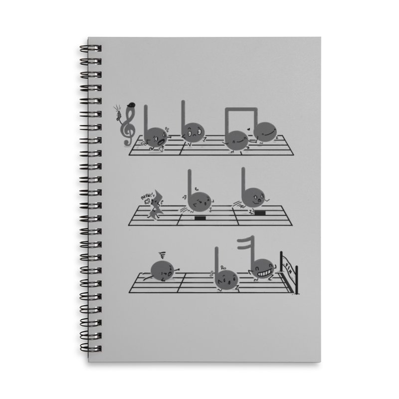 Sound Track Accessories Lined Spiral Notebook by Made With Awesome