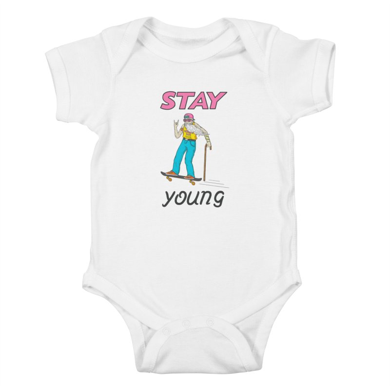 Always Board Kids Baby Bodysuit by Made With Awesome