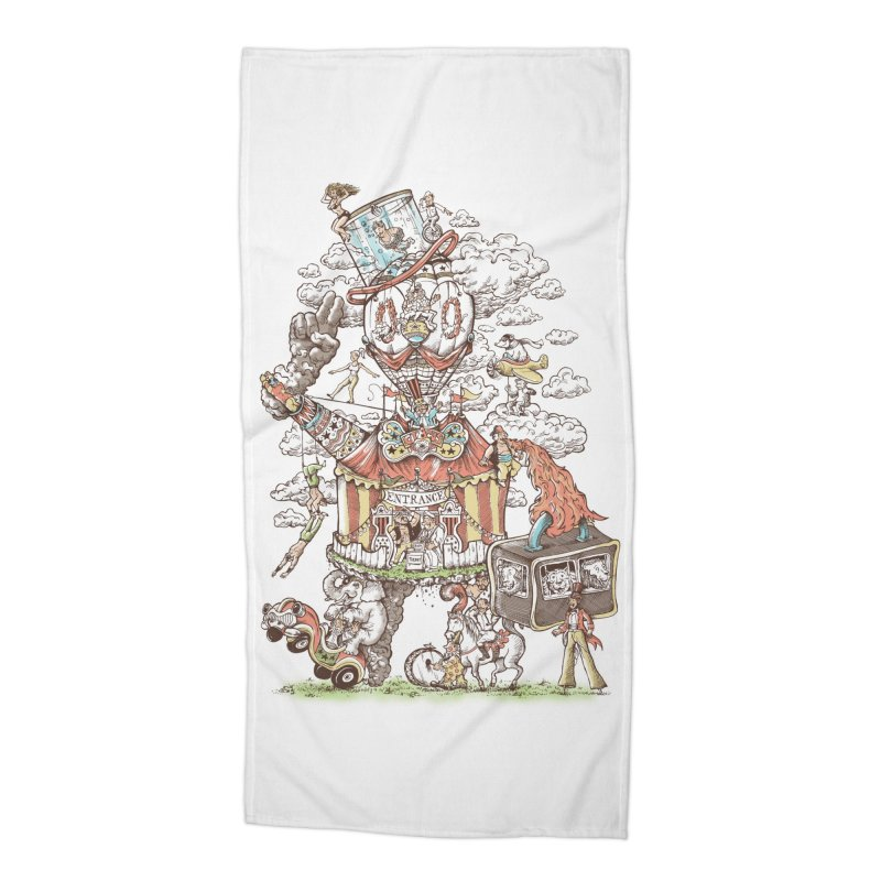Traveling Circus Accessories Beach Towel by Made With Awesome