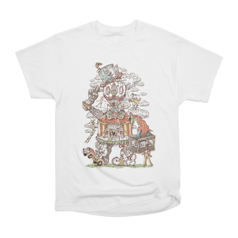 Traveling Circus Women's Heavyweight Unisex T-Shirt by Made With Awesome