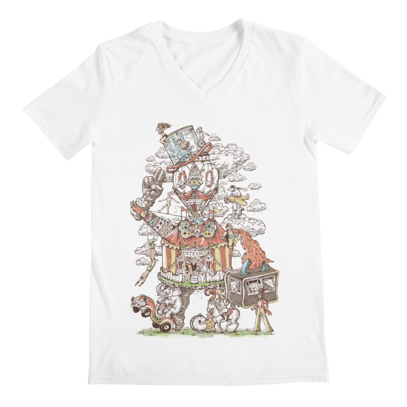 Traveling Circus Men's Regular V-Neck by Made With Awesome