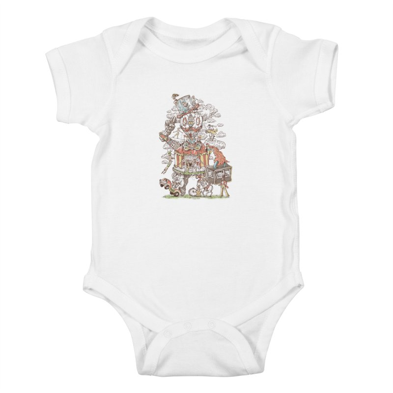 Traveling Circus Kids Baby Bodysuit by Made With Awesome