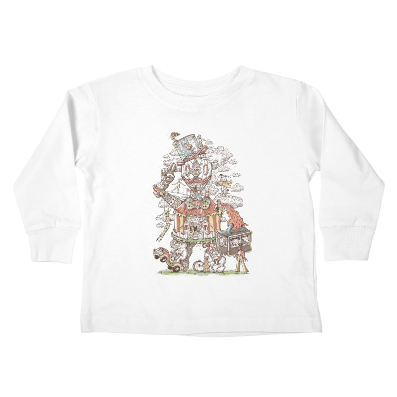 Traveling Circus Kids Toddler Longsleeve T-Shirt by Made With Awesome