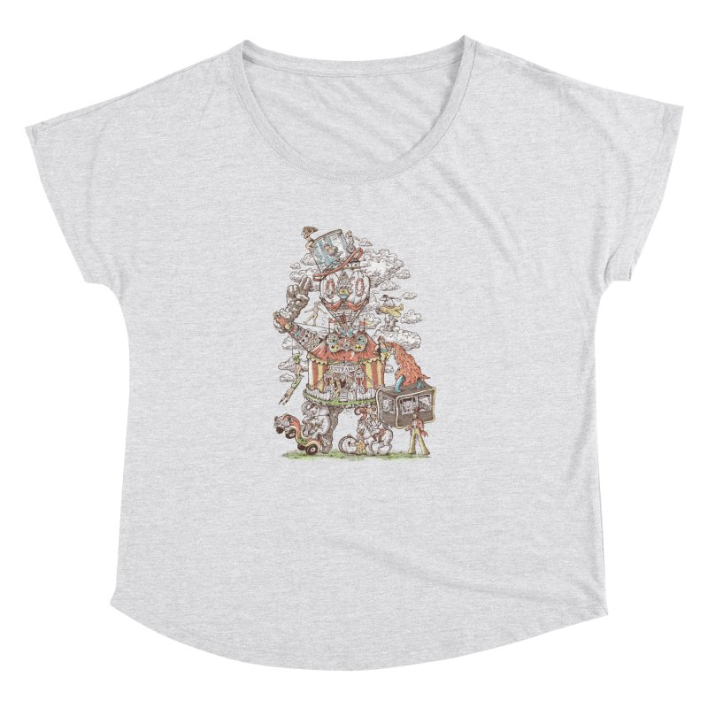 Traveling Circus Women's Dolman Scoop Neck by Made With Awesome
