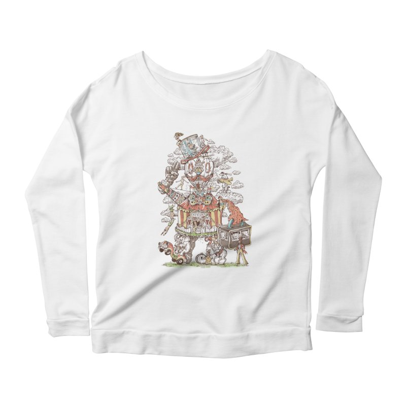 Traveling Circus Women's Scoop Neck Longsleeve T-Shirt by Made With Awesome