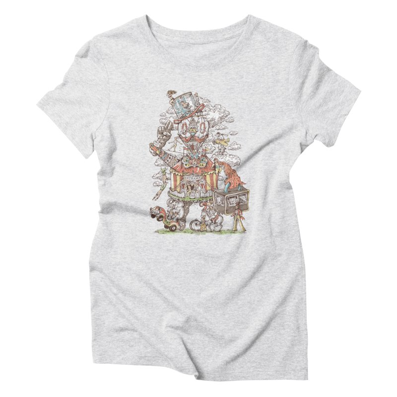 Traveling Circus Women's Triblend T-Shirt by Made With Awesome