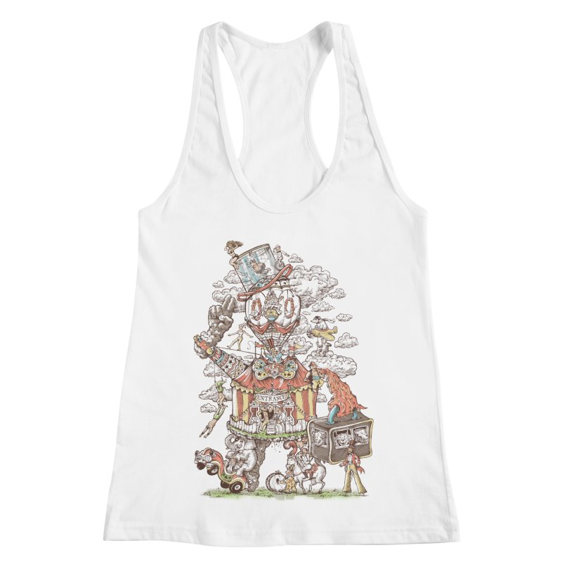 Traveling Circus Women's Racerback Tank by Made With Awesome
