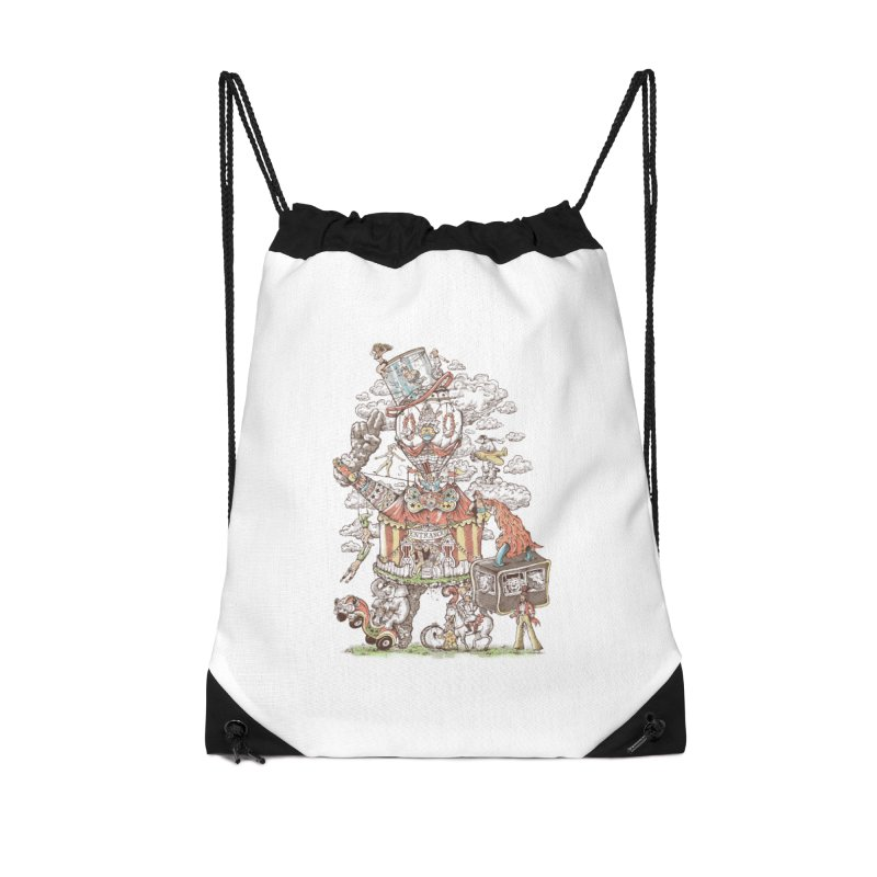 Traveling Circus Accessories Drawstring Bag Bag by Made With Awesome