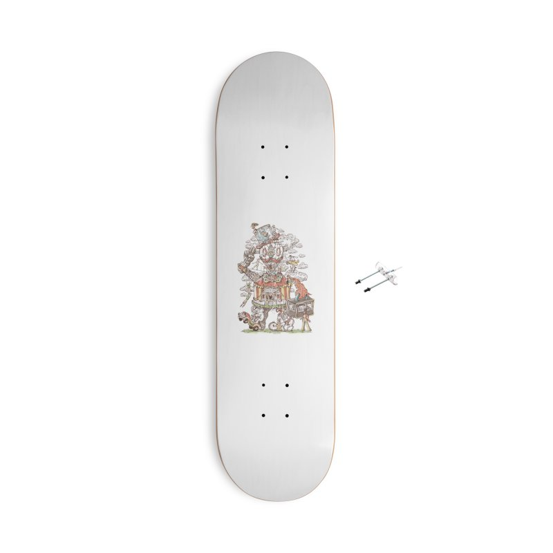 Traveling Circus Accessories With Hanging Hardware Skateboard by Made With Awesome