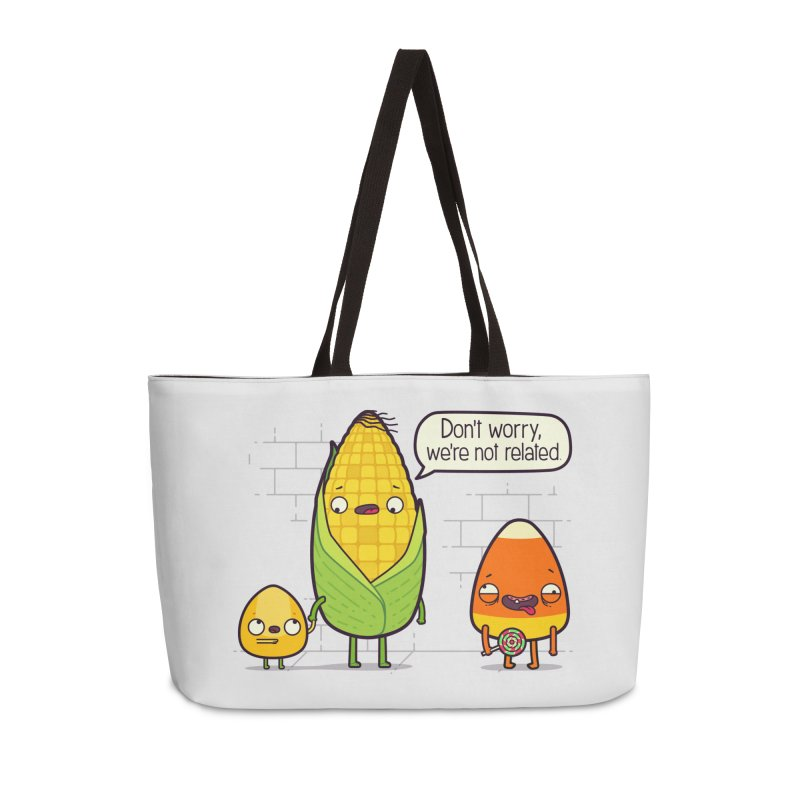 So Corny Accessories Weekender Bag Bag by Made With Awesome