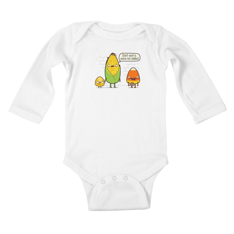 So Corny Kids Baby Longsleeve Bodysuit by Made With Awesome