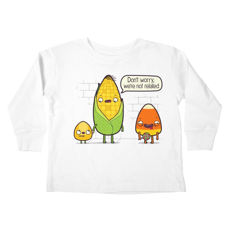 So Corny Kids Toddler Longsleeve T-Shirt by Made With Awesome