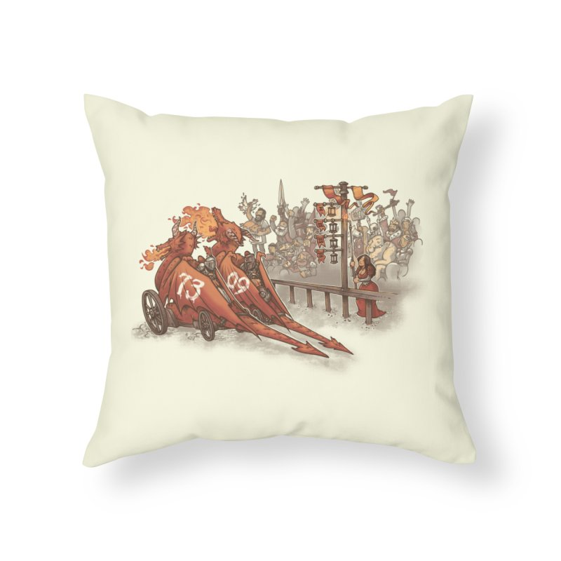 Drag Race Home Throw Pillow by Made With Awesome