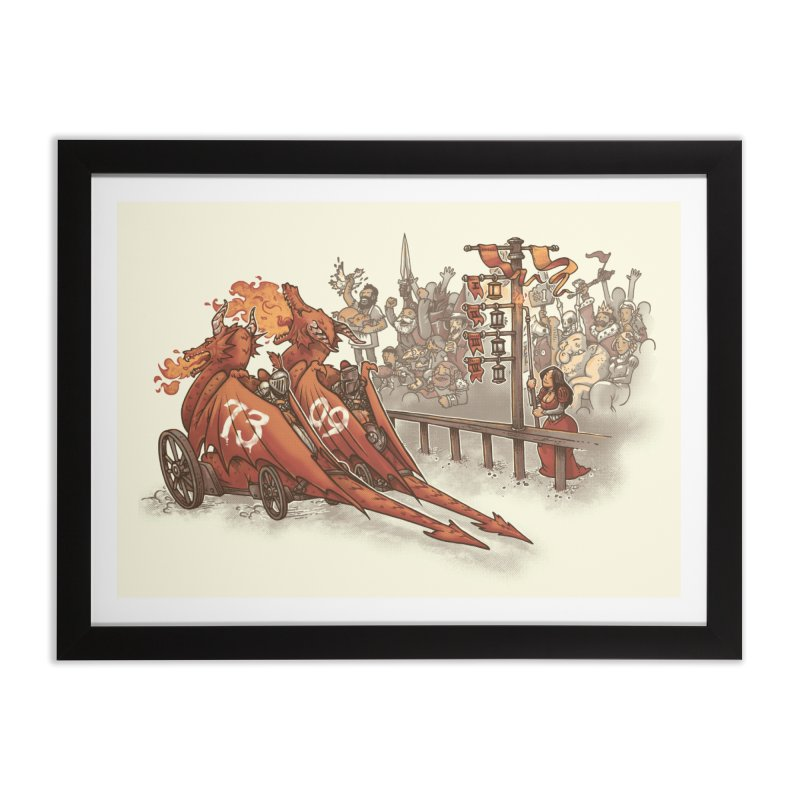 Drag Race Home Framed Fine Art Print by Made With Awesome