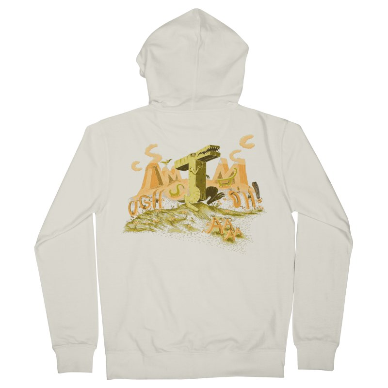 T Wrecks Men's French Terry Zip-Up Hoody by Made With Awesome