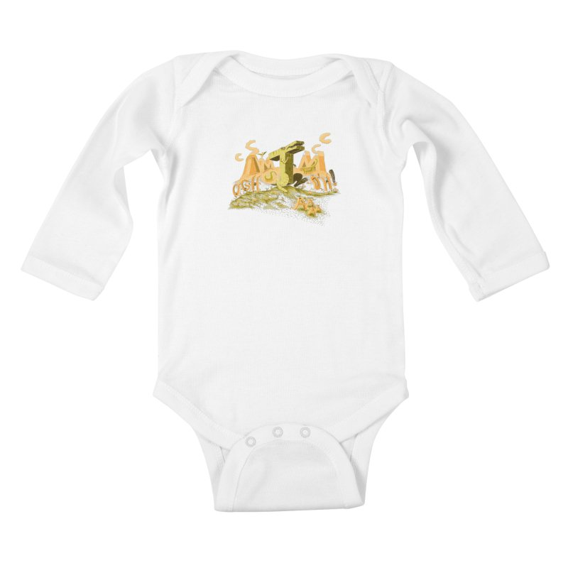 T Wrecks Kids Baby Longsleeve Bodysuit by Made With Awesome