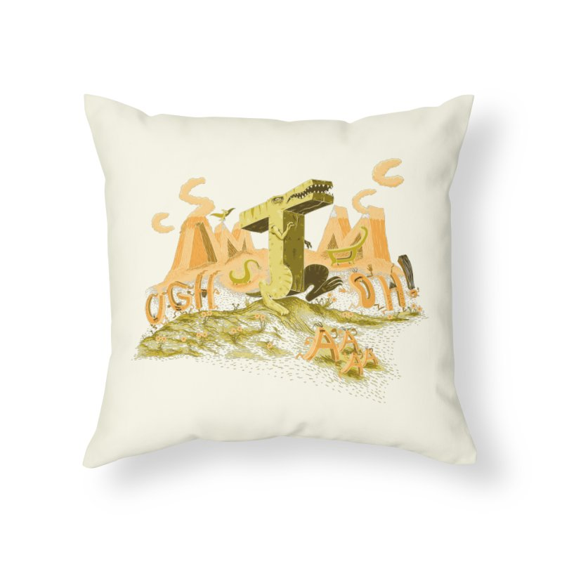 T Wrecks Home Throw Pillow by Made With Awesome