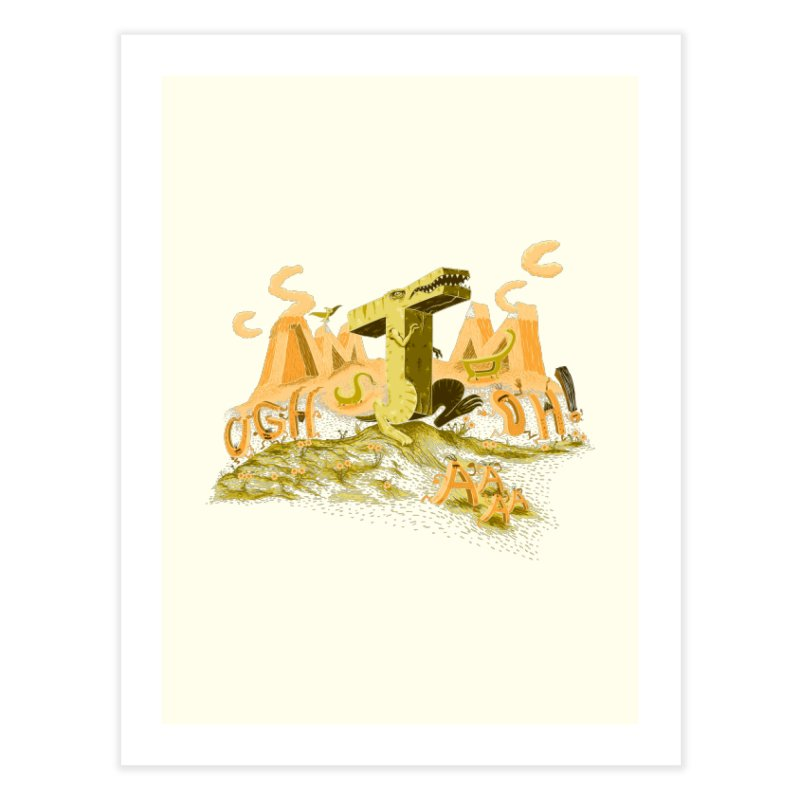 T Wrecks Home Fine Art Print by Made With Awesome