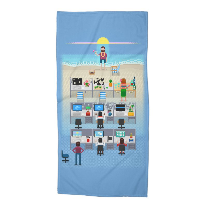 Office Daydream Accessories Beach Towel by Made With Awesome