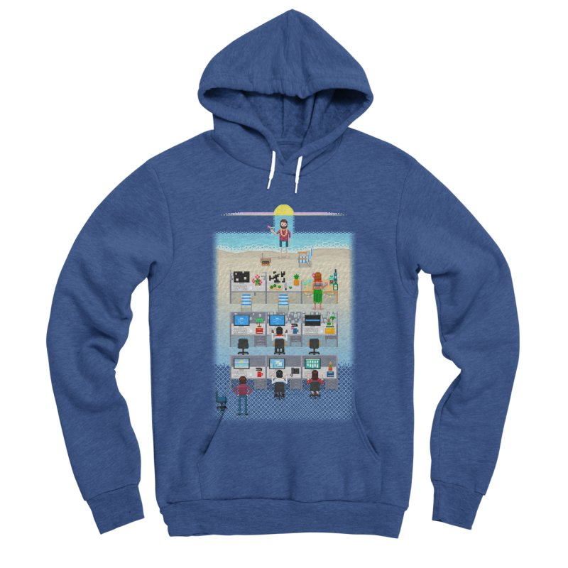 Office Daydream Men's Sponge Fleece Pullover Hoody by Made With Awesome