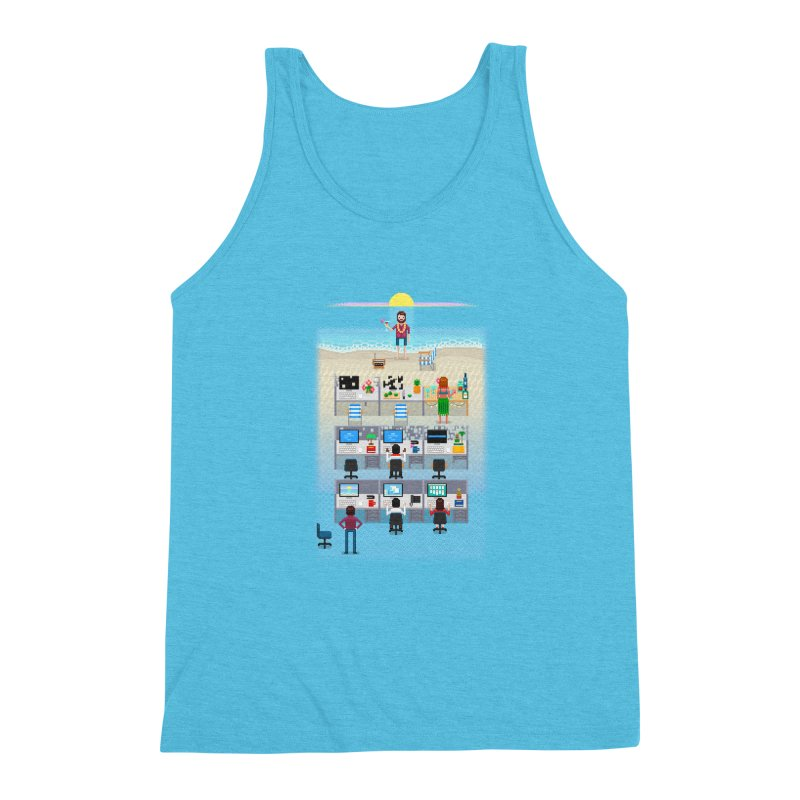 Office Daydream Men's Triblend Tank by Made With Awesome