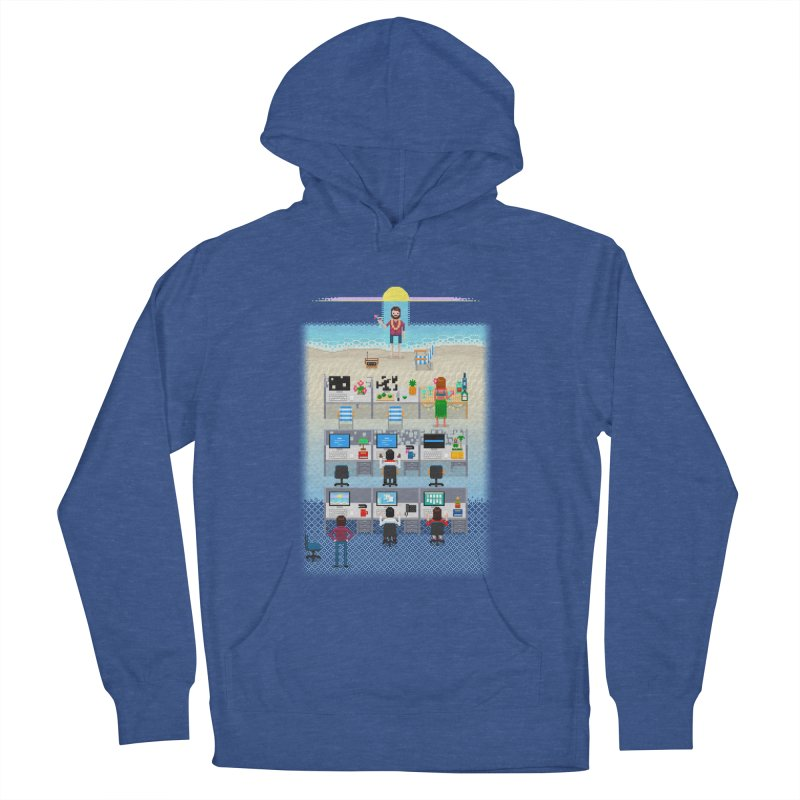 Office Daydream Men's French Terry Pullover Hoody by Made With Awesome