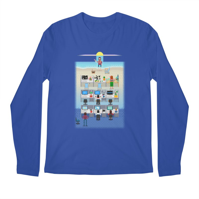 Office Daydream Men's Regular Longsleeve T-Shirt by Made With Awesome