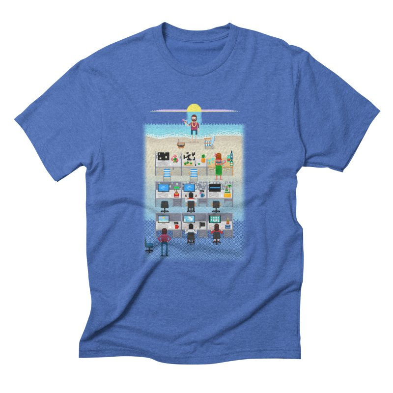 Office Daydream Men's Triblend T-Shirt by Made With Awesome